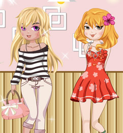 Barbie Cute Friends Dress Up