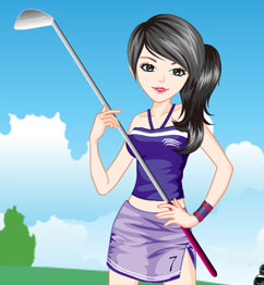 Barbie Playing Golf
