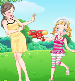 Barbie Watergun Play