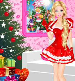 Barbie christmas dress up game play barbie games