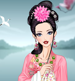 Traditional chinese barbie dress up play barbie games