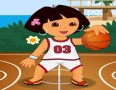 Dora Playing Basketball