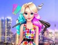 Elizas Neon Hairstyle